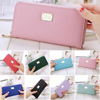 Women Zipper Leather Long Purse Lady Clutch Coin Phone Bag Wallet Card Holder A+