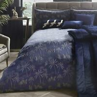 Navy Duvet Covers Qing Jacquard Palm Trees Laurence Llewellyn-Bowen Bedding