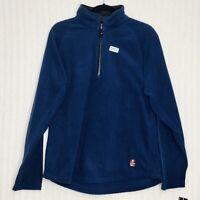 Tommy Hilfiger Mens 1/4 Zip Navy Blue Fleece Pullover Size Medium