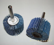 "10 Premium Zirconia Flap Wheel Sanding Disc 1-1/2""x1""x1/4"" Various Grits"