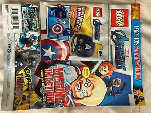 LEGO Marvel Avengers Magazine - Issue 6 with Captian America Minifigure