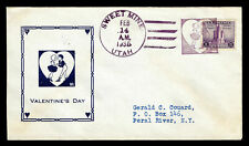 WCstamps: U.S. Loso #1134 - 20th Century Fancy Cancels Cover Sweet Mine, UT 1935