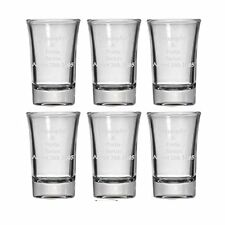 Personalized Set of 6 Shot Glasses (1.5oz) Free Engraving Groomsman & Bridesmaid