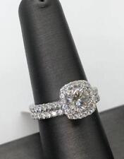 14K White Gold Over 2.0Ct Round Cut White Diamond Bridal Engagement Ring Set
