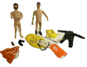 Lot Vintage GI Joe Mike Powers + Bearded GI Joe + Aqua Scuba Gear