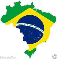 BRAZIL MAP FLAG BUMPER STICKER TOOLBOX STICKER LAPTOP STICKER HELMET STICKER