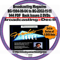 944 PDFs Broadcasting Magazine Radio Magazines Books 2 DVDs 3rd in Series of 3