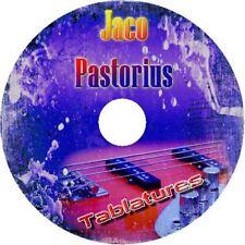 JACO PASTORIUS BASS  TAB CD TABLATURE GREATEST HITS BEST JAZZ ROCK MUSIC AUDIO