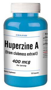 Huperzine A Capsules Enhances Memory 400mcg HIGH POTENCY 120 Capsules Big Bottle