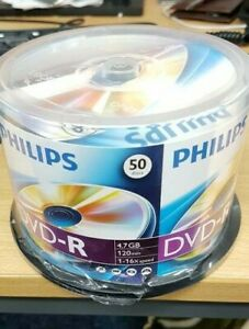 Philips DVD-R 4.7GB 120min 16x Speed Non Printable (50 Discs) - Clearance