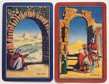Pair of Vintage Swap/Playing Cards - EGYPT & SYRIA - Mint Cond