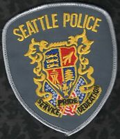 😎😎  Seattle Washington Police Shoulder Patch  Grey Border