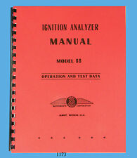 Merc-O-Tronic Ignition Analyzer Model 88 Operation & Data Manual Latest Revision