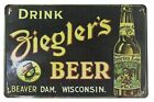 wall prints online Bieglers Beer beaver dam wisconsin tin metal sign