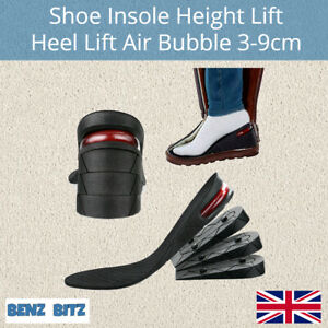 Shoe Height Increase Insoles Heel Lift 3-9cm Air Support Cushion Unisex Washable