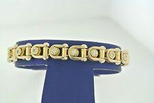 "Baraka 18k Yellow Gold 2.50 CT Diamond Men's Bracelet, 48gm, 8"""