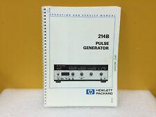 Hp / Agilent 00214-90012 214B Pulse Generator Operating + Service Manual
