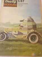 GENUINE PAPER-CARD MODEL KIT-MALY MODELARZ -Polish Armored Car