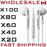 WHOLESALE Pack Earphone Earbud Headphone Ecouteur Mic SAMSUNG iPhone LG Sony