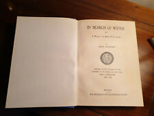 IN SEARCH OF WATER, JACK LOUDAN, 1940, FIRST EDITION