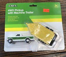 JOHN DEERE 1990 FORD 4WD PICKUP W/MACHINE TRAILER 1/64 ERTL DIECAST NEW #5691