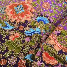 LOVELY PURPLE OLD TRADITIONAL FLORAL PAINTED SARONG BATIK INDONESIA 100% COTTON