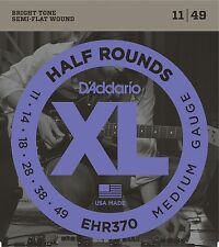 D'Addario Guitar Strings  Electric  EHR370  Half Round Medium 11-49