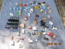 Lot of Miniature Doll House Parts  Shelf Washing Machine Oven Toys MIXED