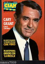 "MAGAZINE=CIAK=N°1 GENNAIO 1987=CARY GRANT=CIAK VIDEO=HORROR ""LA MOSCA"""