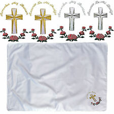 Baby Toddler Christening Baptism White Swaddling Holy Blanket Gold Silver Cross