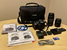 Canon EOS Rebel T5 18.0MP DSLR camera with 18-55mm & 75-300mm lens bag and more!