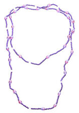 Ladies Purple Beaded Retro Two Tone Pink Infused Vintage Hippy Necklace(Zx61)