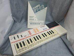 Vintage CASIO PT-82 Keyboard w/ rom ro 551 song pack Works