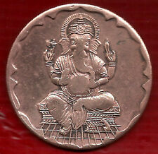 TWO ANNA SRI GANESH JI EAST INDIA CO.TEMPLE TOKEN BIG COIN 45 GM.~Size- 50MM DIA