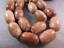 Swirl Painted Wood Beads 12pcs