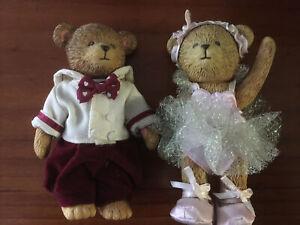 Russ Teddy Town Bear Ballerina & Sailor Boy Hard Plastic Jointed