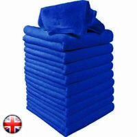 Uk 50x Blue Car Cleaning Detailing Soft Cloths Bulk Towel Microfibre Polish Uk