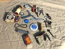 Junk Drawer Estate Lot, Keys, Lighter, Badges, Pocket Knifes & More