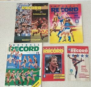 AFL VFL footy vintage football Aussie rules records grand final Footscray lot