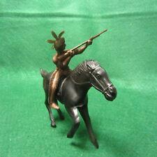 "Vintage Payton  6 1/2"" Long Horse & Rider Vinyl Plastic"