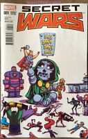 MARVEL SECRET WARS #1 (of 8) SKOTTIE YOUNG BABY VARIANT COVER COMIC BOOK DR DOOM