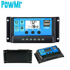 10A 20A 30A PWM Solar Controller Solar Regulator DC12/24V Dual USB LCD Display