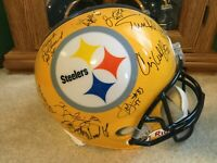 Pittsburgh Steelers Autographed Multi Team Signed Full Sized Helmet  21 Autos