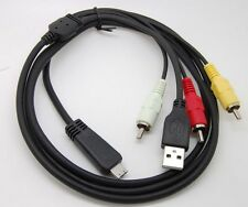 NEW USB& AV TV cable Cord  CORD for Sony  camera DSC- W350 Compatible VMC-MD3