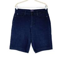Nydj Jean Shorts Womens Size 10 High Rise Bermuda Slimming Lift Tuck