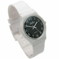 Plastic Case Analogue Unisex Round Wristwatches