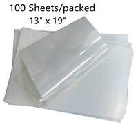 Printers dye and Pigment Ink 100 Sheets,13x19,Premium Waterproof Inkjet Instant Dry Silk Screen Printing Transparency Film for EPSON HP Canon Water-Based