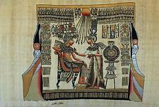 """NEW HAND PAINTED EGYPTIAN PAINTING ON PAPYRUS 12""""x16"""" A51"""