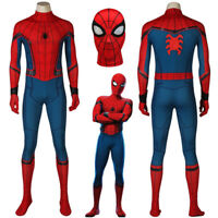 Marvel Civil War Spiderman Homecoming Costume For Adult Kids 3D Printed