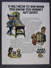 1974 Marx Games Rock'em Sock'em Robots Frenzy & Super Pinball vintage print Ad